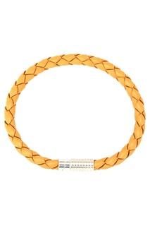 Желтый кожаный браслет Canali