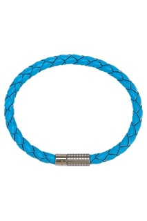 Голубой кожаный браслет Canali