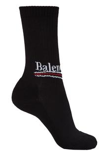 Черные хлопковые носки Balenciaga