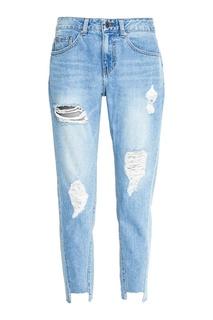 Голубые потертые джинсы boyfriend Sjyp