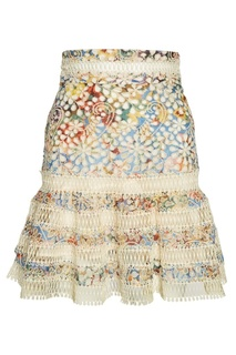 Хлопковая юбка с вышивкой Zimmermann