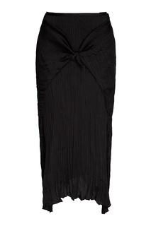 Черная плиссированная юбка с узлом Vince