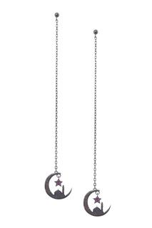 Серебряные серьги-цепочки Dzhanelli Jewellery