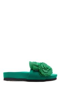 Зеленые текстильные сандалии Suecomma Bonnie