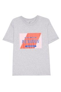 Хлопковая футболка с логотипом P.E Nation