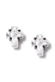 Серебряные гвоздики с кварцем Dzhanelli Jewellery