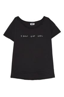 Черная футболка с надписью One Teaspoon