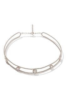 Серебряное колье с кристаллами Exclaim