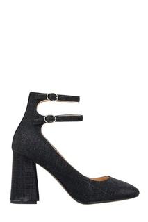 Черные туфли с люрексом What FOR