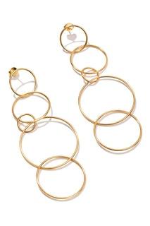 Серебряные серьги-кольца Exclaim