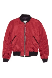 Бордовая куртка-бомбер Clea Acne Studios