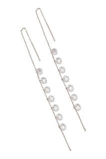 Серебряные серьги с гранеными подвесками Exclaim