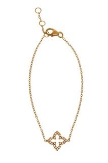 Золотистый браслет-цепочка с подвеской Exclaim