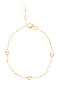 Серебряный браслет с круглыми кристаллами Exclaim