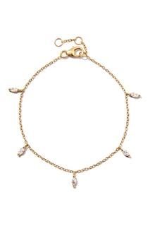 Серебряный браслет-цепочка с кристаллами Exclaim