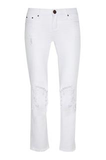 Белые джинсы с потертостями One Teaspoon