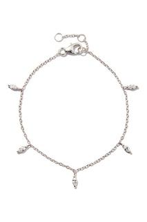Серебряный браслет с подвесками-кристаллами Exclaim