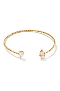 Золотистый серебряный браслет с кристаллами Exclaim