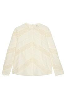 Льняная блузка с кружевом Zimmermann