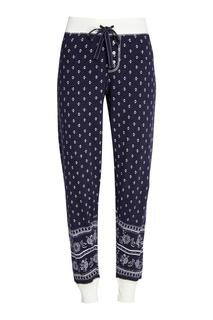 Синие хлопковые брюки с принтом PJ Salvage