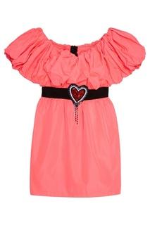 Розовое платье-мини Msgm