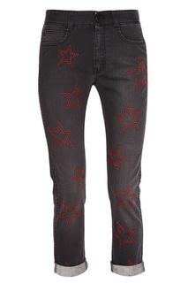 Серые джинсы со звездами Stella Mc Cartney