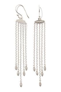 Серебряные серьги с цирконами Exclaim
