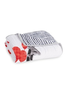 Двустороннее хлопковое одеяло с принтом Aden+Anais