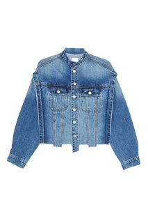 Джинсовая куртка с полосками Sjyp