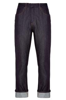 Синие прямые джинсы Prada