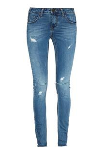 Синие джинсы-скинни с прорезями One Teaspoon