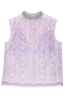 Фиолетовый топ из кружева Marc Jacobs