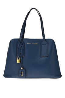 Синяя кожаная сумка The Editor Tote Marc Jacobs