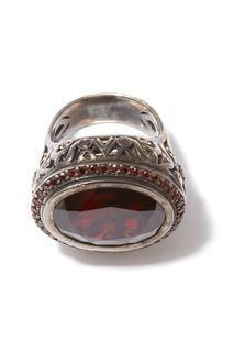Серебряное кольцо с гранатом Dzhanelli Jewellery