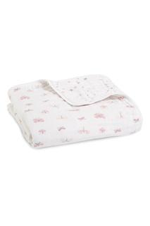 Белое одеяло с комбинированным принтом Aden+Anais