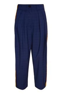 Синие брюки с яркими лампасами Yuzhe Studios