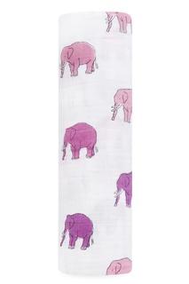 Хлопковая пеленка со слонами Aden+Anais
