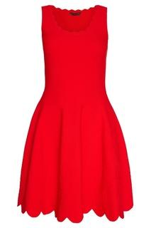 Красное трикотажное платье Alexander Mc Queen