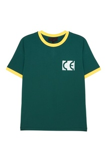 Зеленая футболка с яркими окантовками Yuzhe Studios