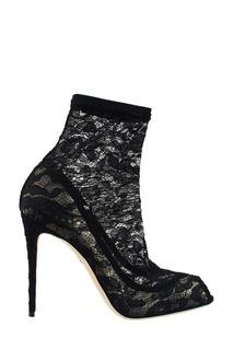 Черные ботильоны из кружева Dolce & Gabbana