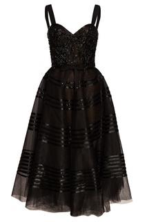 Платье с пышным подолом Marchesa