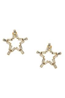 Серьги-звезды с кристаллами Ruby Novich