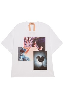 Хлопковая футболка с фотопринтом No.21