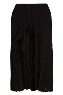 Черная плиссированная юбка Vince