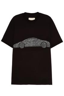 Черная футболка с машиной Ih Nom Uh Nit