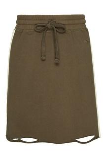 Зеленая трикотажная юбка-мини Zasport