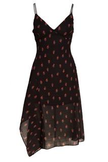 Черное платье с розами Mo&Co