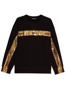 Свитшот с полосой из пайеток Dolce & Gabbana