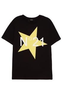 Черная футболка со звездой No.21