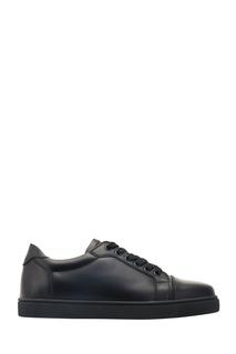 Черные кожаные кеды Vieira Flat Christian Louboutin
